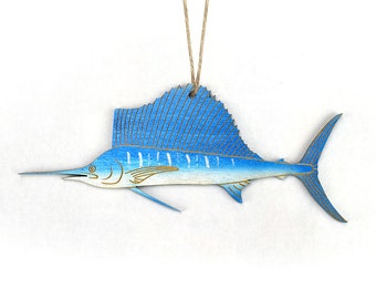 Sailfish Christmas Ornament