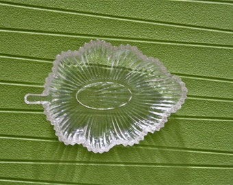 Vintage Candy Dish, Leafed Shaped