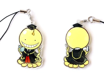 Double Sided Front & Back Anime Charm with Phone Strap
