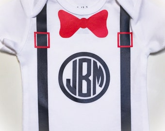 Monogrammed onesie for boys