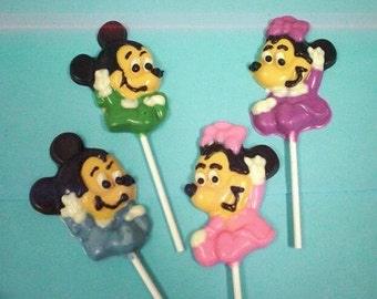 12 Baby Mickey & Minnie mouse chocolate lollipops