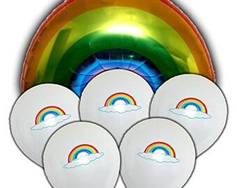"""Aborable Rainbow Shape 36"""" Mylar Balloon Decoration Kit"""