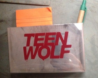 School locker storage gear, organization tool - custom and exclusive! Teen Wolf