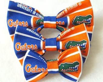 Dog Bowtie made from University of Florida Fabric