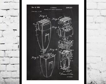 Electric Razor Print, Electric Razor Poster, Electric Razor Patent, Electric Razor Decor, Electric Razor Wall Art, Electric Razor Art p106