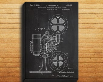 CANVAS - Motion Picture Projector Art, Motion Picture Projector Print, Motion Picture Projector Patent, Motion Picture Projector, p018