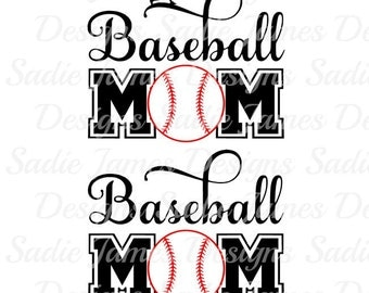 Baseball Mom Style #2 SVG and Silhouettte Studio cutting file, Instant Download