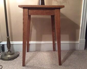 Red oak side table