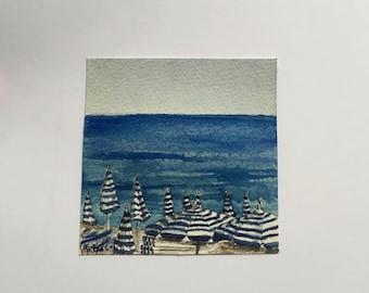 Nice, France--Original Watercolor Painting