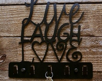 Live Laugh Love Decorative Key Holder / Wall Hook / Key Rack