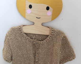 Hand Knitted Girls Shrug Cardigan Age 4