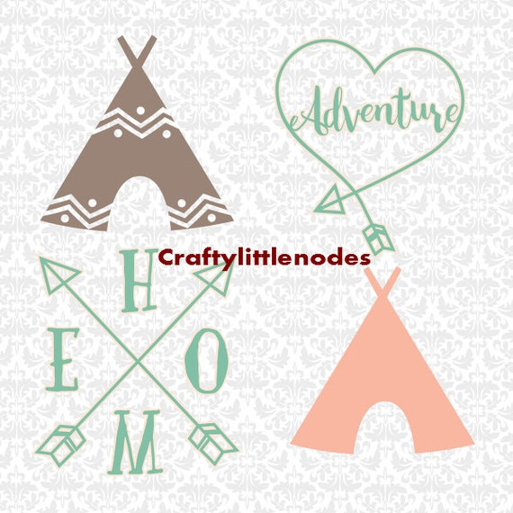 TeePee Camping Adventure Arrow SVG STUDIO Ai EPS Scalable Vector Instant Download Commercial Use Cutting FIle Cricut Silhouette
