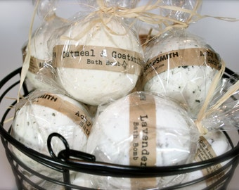 6 Bath Bombs, Aromatherapy Bath Bomb, All Natural Bath Bomb Fizzy