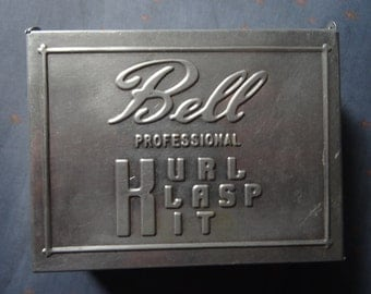 Bell Kurl Klasp Kit Tin with Goody Curlers