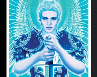 Archangel Michael Print by Artist Jason Mccreadie 2014