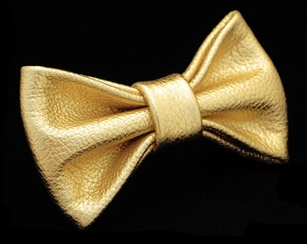 Shiny Gold Bow Tie