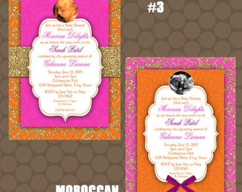 Middle Eastern Bollywood Baby Shower Invitations Signs Printable Uprint Digital Printed * 4 designs * READ DESCRIPTION