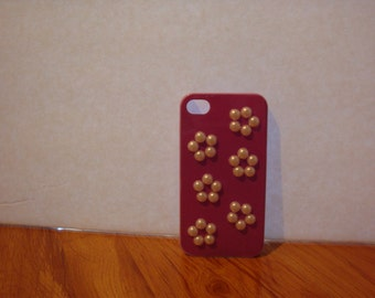 Purple iPhone 4/4s Case with Cherry Blossoms