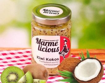 Kiwi coconut fruit spread