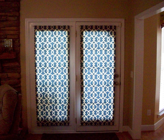 Geometric door panels custom foyer rod pocket front entry door
