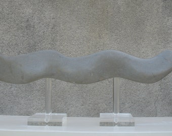 "SCULPTURE in stone ""Free man..."""