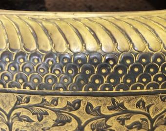 SOLD!!! Tall Brass Decorative Vase