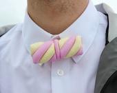 Marshmallow Tie Design Accessories Jewelry Rommydebommy Men Suit Bowtie Menswear Mensstyle Gentlemen Boy Men Sweets Candy Food pink pastel