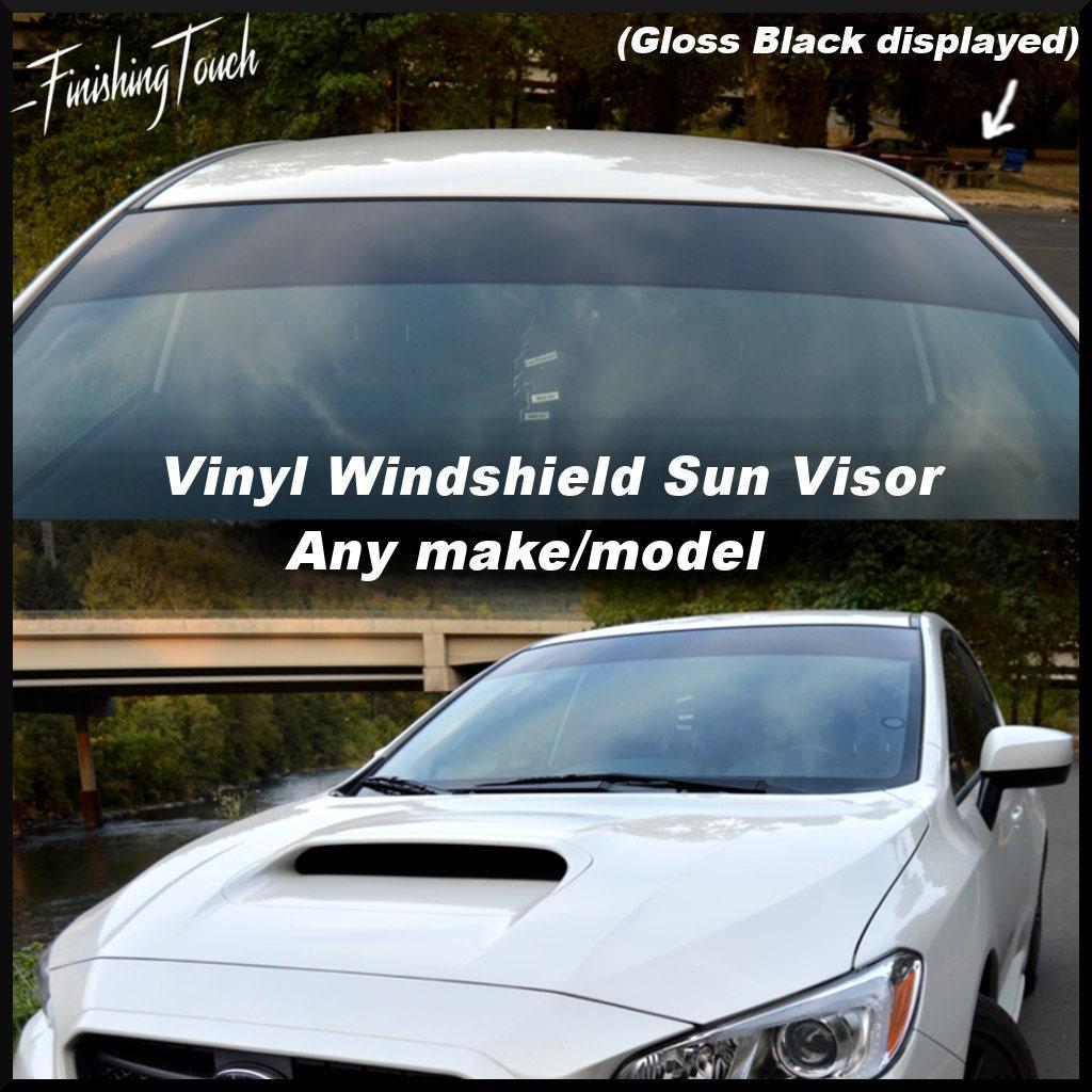 Vinyl Windshield Sun Visor Window Shade Vinyl Banner Decal - Custom vinyl decals for car windshield