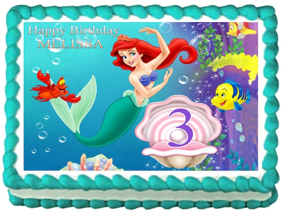 Edible Cake Images Little Mermaid : THE LITTLE MERMAID Ariel Edible image Cake by ...