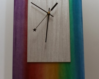 Modern Metal Abstract Wall Clock Sculpture - Abstract Painting on Metal Sculpture - Home Decor Wall Clock - Metal Clock - L12