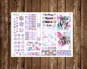 Item #0193 Purple Floral Decorating Kit Stickers  (Perfect for Filofaxes or ECLPs)