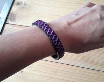Violet bracelet cuff