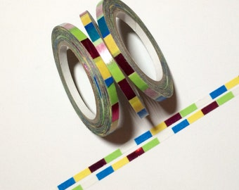 Multi Colored Foil 3mm Washi Tape by Little B