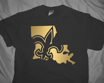Items similar to lsu and saints mixed painting on canvas for New orlean saints shirts