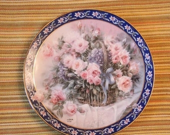 Lena Liu's Roses 1st issue collector's plate