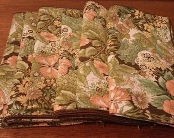 Set of 6 Vintage Fabric Napkins