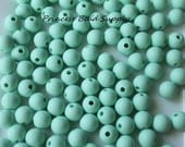 9mm Mint Silicone Teething Beads, Set of 10 Silicone, 100% Food Grade Silicone Beads, BPA Free Beads, Sensory Beads, Silicone Loose Beads,