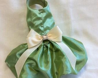 Green Elegant Dog Dress