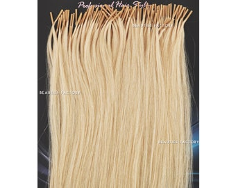 50g Bleach Blonde Beauties Factory Handmade Stick tip (i-tip) Heat Adhesive 100% Remy Human Hair Extensions 20 inch