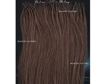 50g Darkest Brown Beauties Factory Handmade Stick tip (i-tip) Heat Adhesive 100% Remy Human Hair Extensions 20inch