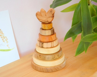 Wooden Toy/ Wooden Stacking Toy/ Waldorf toy/ Wooden Toddler Gift/ Montessori Toy/ Eco-friendly Toy/ Educational Toy