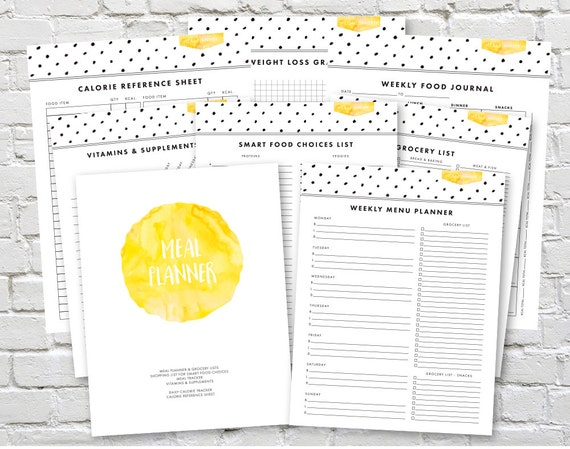Printable Weight Loss And Workout Planner