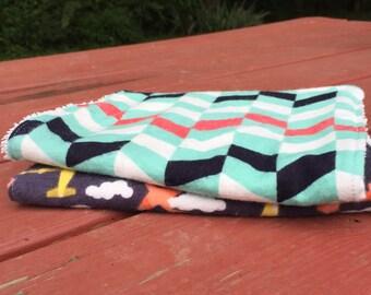 Burp cloths (set of 2)