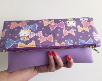 Hello Kitty Purple Fold Over Clutch