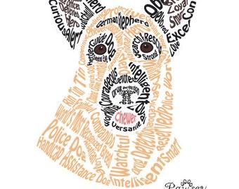 German Shepherd Word Art