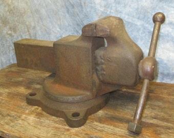 4 Jaw Swivel Bench Table Swivel Vise Blacksmith Anvil Vintage Reed No 204 R
