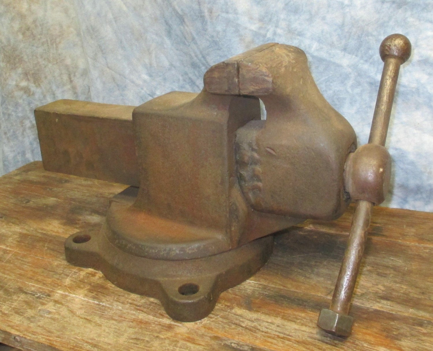 4 Jaw Swivel Bench Table Swivel Vise Blacksmith Anvil Vintage