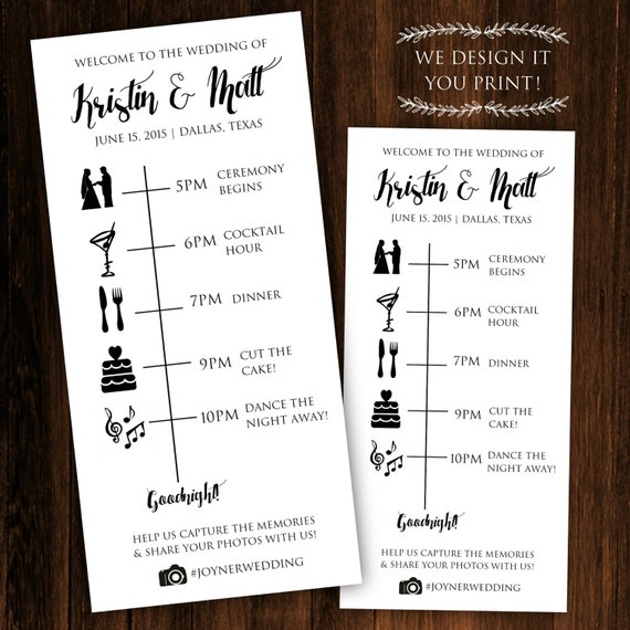 Printable Wedding Timeline Printable By ClassyPrintsOnline