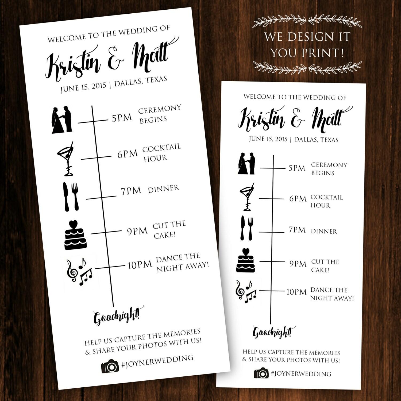 wedding timeline template