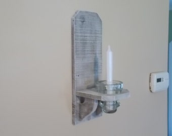 Candle Sconce With Antique Electric Line Insulator